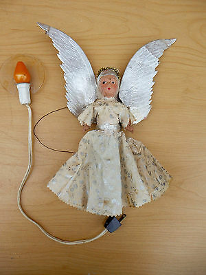 Antique Christmas Tree Angel Tree with Lighted Halo