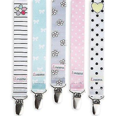 FLASH SALE - Pacifier Clip Girls by Liname - 5 Pack - Premium Quality Universal