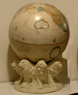 "Replogle  16"" WORLD CLASSIC Globe w/Lion Base -ca 1991"
