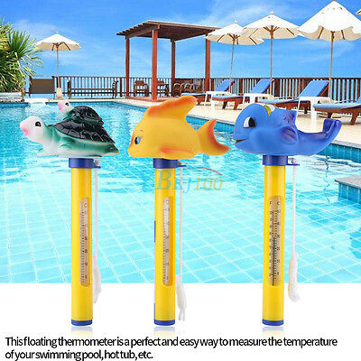 Pool Spa Hot tub Floating Animal Thermometer F/ C Display With 3 Varieties coi