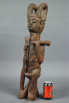 26.5 inch! Large Dramatic IGBO Figure NIGERIA Carved Wood Sculpture Africa