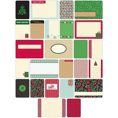 Becky Higgins Project Life Themed Cards - CHRISTMAS - Scrapbooking - 40 Cards
