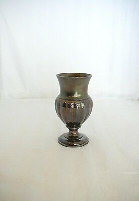 Goblet Vase 1850-1899 Antique James Tufts Boston Victorian Silverplate Quadruple