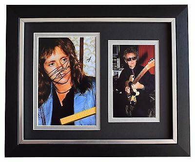 Roger Taylor SIGNED 10x8 FRAMED Photo Autograph Display Queen Music AFTAL & COA