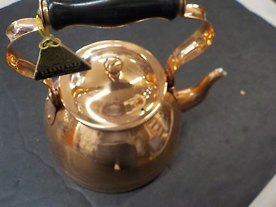 Douro Copper Tea Pot Kettle With w/ Lid Made In Portugal