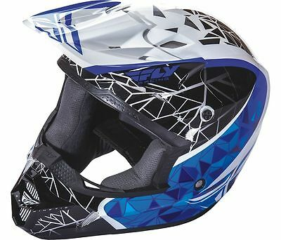 Fly Racing Kinetic Crux Helmet Blue -Black - White Adult and Youth