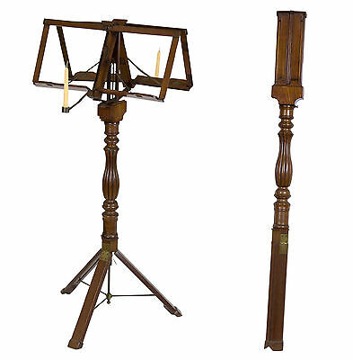 SWC-Classical Mahogany Metamorphic Duet Musical Stand, Campaign Furniture, c1840