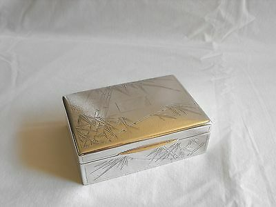 antique sterling box CJ Company Chinese Export 925 sterling box w/bamboo motif