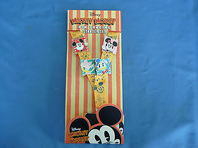 MICKEY MOUSE Pin TRADING Starter   Disney  Pin 2017 SET of 4 pins & LANYARD NEW