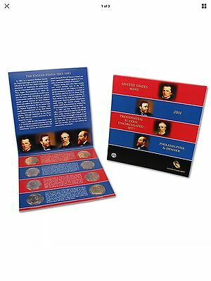 2011 US Mint Presidential $1 Coin Uncirculated Set