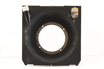Genuine Linhof Recessed Lens Board Cut to 47mm with Cable Release Attachment