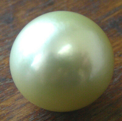 AUST 17.6mm! GREEN SOUTH SEA PEARL 100% UNTREATED COLOUR UNDRILLED+CERTIFICATE