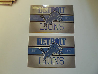 Lot Of 2-Detroit Lions Nfl Approved Brand New Vintage Stickers