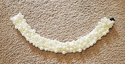 """TED BAKER Tacall Faux Pearl Collar 1 1/2"""" Wide Dressy"""