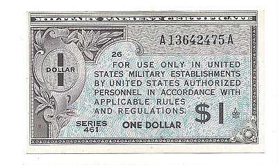 Series 461  1 Dollar $1  ABOUT  UNC - UNC