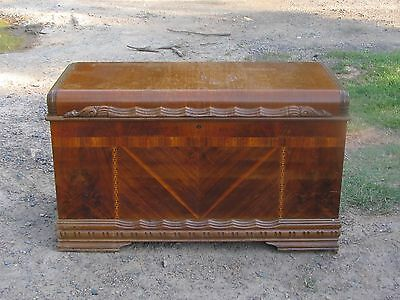 Vintage 1940's 1950's Cavalier Waterfall Cedar Chest Hope Chest Original Finish