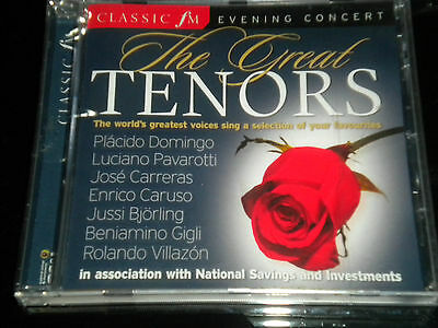The Great Tenors - Classic FM Evening Concert - CD Album - 2006 - 12 Tracks -NEW