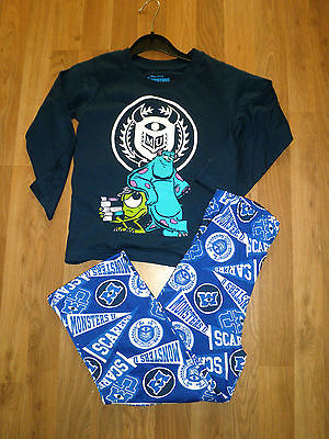Boys Cotton long Pyjamas Official Licensed Monsters University age 6-7