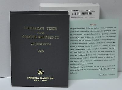 ISHIHARA'S Test Chart 1255 24 Plates Edition 2010 – Made in Japan Ed New