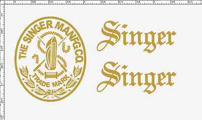 Singer Model 20 Toy Sewing Machine Restoration Decals Script Letters