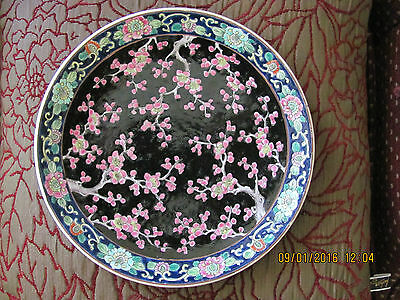 Antique Large Handpainted & Signed Chinese/japanese Plate
