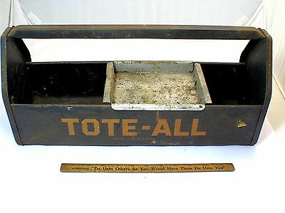 GARDEN TOOL METAL TOTE - ALL  TOOL BOX, CARRIER, CADDY w/ TRAY