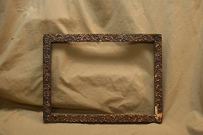 Antique 18th C Gesso Decorated Picture Frame for Restoration/ Cast Pattern Piece