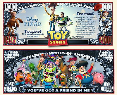 Toy Story Novelty Dollar Bill with Protector and Free shipping Buy Now