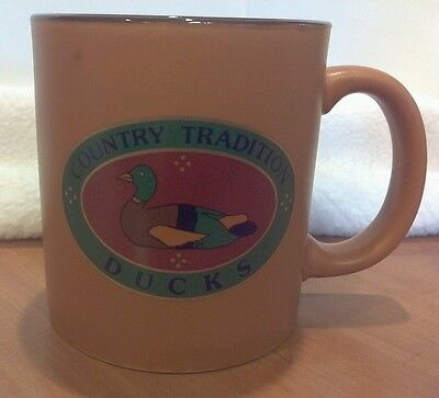 DUCKS Coffee Mug by Country Tradition 12 Fl. Oz.