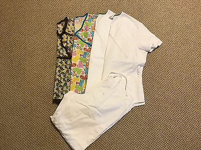 Women's Koi, Scrub Star Etc.. lot Of 5 Mixed Scrubs Size Large