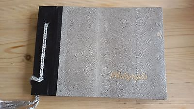 Vintage Photo Album  8In X 5In Grey