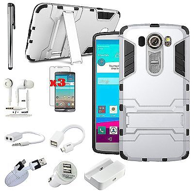 11 in 1 Case Cover Dock Charger Earphones OTG Cable Accessory Bundle For LG G4