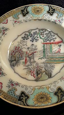 Vintage P Regout Maastricht Chinoiserie Bowl Canton Pattern Dated 1836 Wall Art
