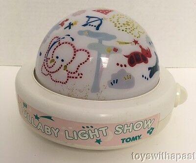1987 Tomy LULLABY LIGHT SHOW Musical Night Light Projection Animals Wind-Up