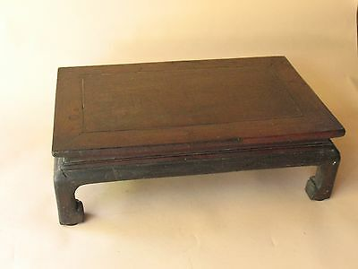 old Estate Chinese scholar TABLE DISPLAY STAND carved hardwood furniture