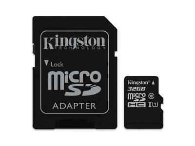 32 GB MicroSDHC Micro SD Speicherkarte mit SD-Adapter Kingston Cl 10 Highspeed