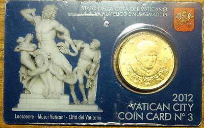 Vatican : 50 Cent 2012. Official Coin Card No.3.
