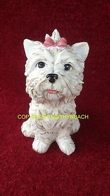 New Design Latex Mould Moulds Mold To Make Yorkie Westie Dog Garden Ornament