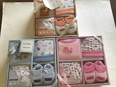 Baby Gift Set 4 Piece Layette T Shirt Diaper Cover Cap Booties NIB