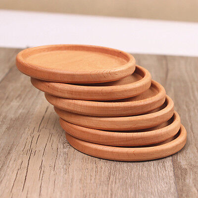 New 1Pc Useful Square Round Wooden Beech Drinks Coasters Glass Drink Mat Coaster