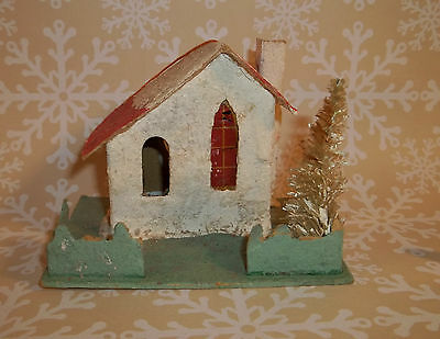 Vintage Christmas PUTZ HOUSE or CHURCH Made in JAPAN C441