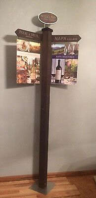 (L@@K) Sonoma Napa Winery Street Sign Directional California Advertising MIB
