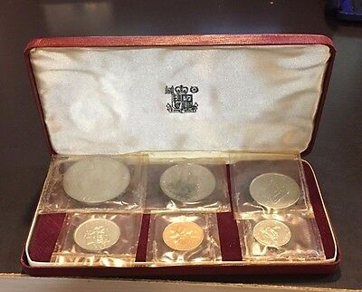 1969 Jamaica Proof Set 6 Coins - The Royal Mint in Original Case - Nice!