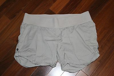 Liz Lange Maternity~ Size Xl ~Khaki Shorts~ Summer~ Band Not Panel