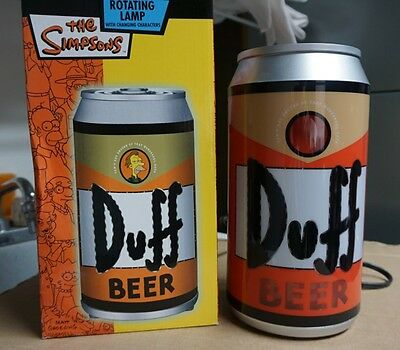 RARE!! The Simpsons Duff Beer Rotating Lamp! VINTAGE Light! with Box Excellent