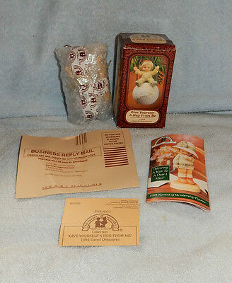 Enesco Memories of Yesterday Give Yourself A Hug From Me 1994 Ornament in Box