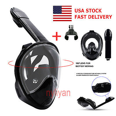 US 180° Full Face Snorkel Mask Surface Swimming Diving Scuba Mask #2 For Gropo L