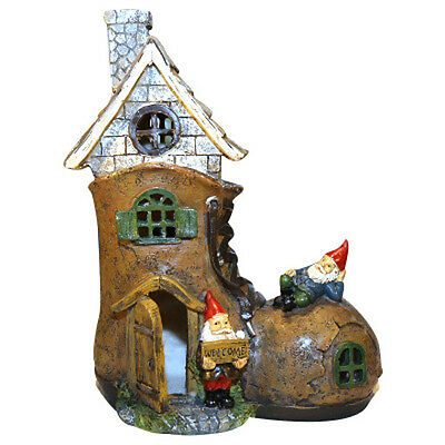 Gnome Boot Shoe House Magical Fairies Gnomes Cottage Garden Miniature 26cm