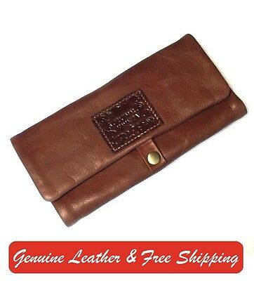 TOBACCO POUCH Original Kavatza TABBA BROWN LEATHER ROLLING PAPER HOLDER P3