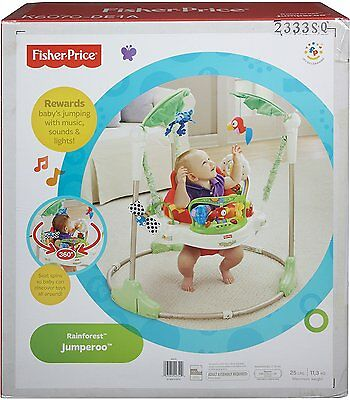 NEW Fisher Price Rainforest Jumperoo Baby Jumper Walker Bouncer Activity Seat
